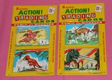vintage MONSTER MAGIC ACTION TRADING CARDS MOC LOT x2 (set B) dinosaurs