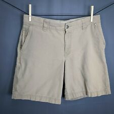 Columbia Mens Shorts Size 34 Khaki Tan Flat Front Zip Cargo Canvas