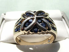 * 9CT YELLOW GOLD * SAPPHIRE RING * 4.9GMS *