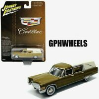 JOHNNY LIGHTNING 1966 66 CADILLAC HEARSE -Gold, LIMITED TO 3000 MIP