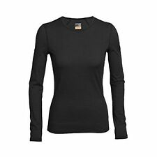 Icebreaker Oasis Crewe LS Womens Base Layer Top - Black All Sizes X Small