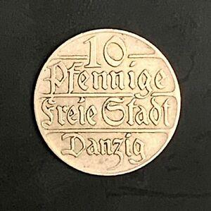 1923 Poland Free city of Danzig 10 Pfennig - high grade