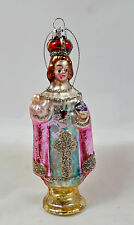 Infant Jesus Of Prague Glass Ornament New Glitter Accents