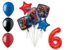Spider-Man Balloon Bouquet 6th Birthday Party Supplies Decorations Spiderman