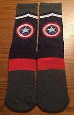Mens Crew Socks Captain America Performance Athletic Marvel ~ L
