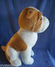 *1714d*  Elka - puppy Bull dog - plush - 32cm white & brown