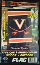 NCAA Virginia Cavaliers Double Sided 28 x 44in Applique Flag, New