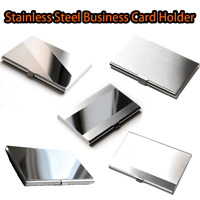 Stainless Steel Name Card Business Card Holder Metal Box Storage id credit case