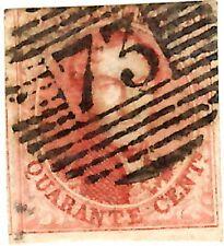 BELGIUM Sc# 12 (1858), King Leopold, Vermillion, Postage, AVG-F, HANDSTAMP