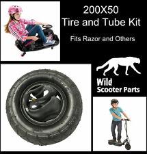 200x50 Tire & Inner Tube Razor E100 E150 E200 eSpark Crazy Cart scooters by Qind