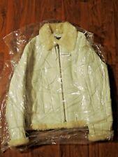 SUPREME Patchwork Wool Shearling B-3 WHITE Lambskin LEATHER Bomber JACKET Coat M