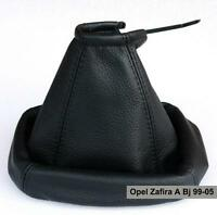 Opel Zafira A Echtleder Farbe Schwarz Schaltsack Schaltmanschette