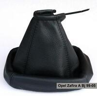 Opel Zafira A Echtleder Farbe Schwarz Schaltmanschette Schalthebelmanschette