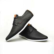 4d1bc5a09077 Mens New Casual Black Brown Faux Leather Smart Formal Lace Up Shoes UK SIZE  7-