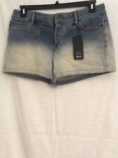 A|X Armani Exchange Womens Blue Dip Dye Distressed Denim Shorts Sz 29 NWT