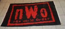1999 WCW NWO Red Logo Wrestling Banner Flag WWE 3x5 Wolfpac WWF
