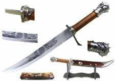 Skull Head Pirate Steel Sword With Table Stand