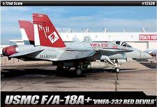 Academy USMC F/A-18 + VMFA-232 RED DEVILS Plastic Model Kit Cartograf 1/72 12520