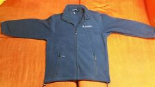 Mens Blue Zipper Jacket, High Quality, Vantage Deluxe World Travel Logo, M, Poly