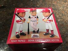 Votto, Casey, Perez TRIPLE Bobblehead SGA Cincinnati REDS 9/16/17 + GAME TICKET