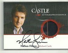 Cryptozoic Castle Nathan Fillion Auto Autograph Evidence Costume Card # AE1