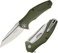 "Kershaw Natrix Folding Knife 3.25"" 8Cr13MoV Stainless Blade Green G10 Handle"
