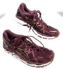 Asics Gel Kayana 21T4H7N Running Shoes Maroon FluidFit Men's 12.5 US, 45 EUR