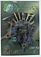 "BATMAN FOREVER 1995 Fleer Metal Promo 5"" x 7"" Premiere Movie Art Edition Sheet"