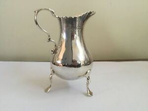 Antique solid sterling silver cream jug London 1870s