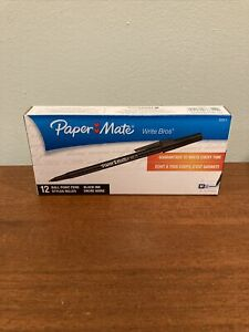 Paper Mate® Write Bros Stick Medium Ballpoint Pen Black Ink 12 Count Pens