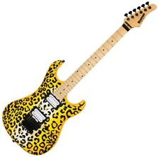 Kramer Pacer Vintage Steel Panther Satchel Signature Guitar Yellow Leopard