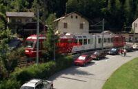 PHOTO  SWITZERLAND CHATELARD 1995 TRAM SNCF