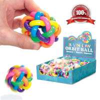 NEW Rainbow Orbit Bouncy Ball Stress Toy Fidget Fiddle Christmas Stocking Filler