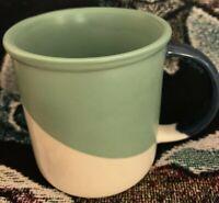 Starbucks 2017 Angle Dipped Sage Green Navy Blue Coffee Mug Tea Cup 12 oz