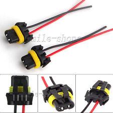 2 Universal 9005 9006 Adapter Wiring Harness Socket Wire for Headlight Fog Light