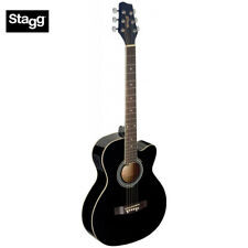 Stagg SA20ACE Full Size Cutaway Auditorium Style Acoustic Electric Guitar Black