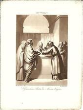 Stampa antica SAN GIOACCHINO Padre di MARIA Bigioli 1839 Old antique print