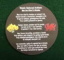 Welsh slate National Anthem coaster Wales Cymru souvenir present