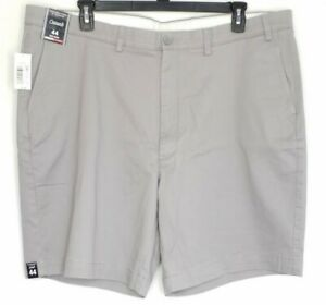 """Roundtree & Yorke Casual Shorts Mens Size 44 Gray Flat Front 9"""" Inseam NWT"""