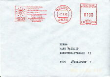1992 Germany. European Health & Safety, Bochum meter franking postmark cover