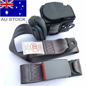 For Toyota 3-Point Universal Safety Seat Belt Dark Gray Seatbelt Strap Retractor