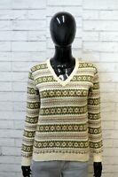 Maglione ROBA DI KAPPA Donna Taglia S Pullover Cardigan Sweater Woman Lana Beige