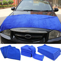 Blue Large Microfibre Cleaning Auto Car Detailing Soft Cloths Wash Towel Duster