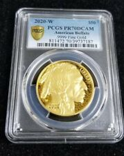 2020-W $50 Gold Buffalo PCGS PR70DCAM Proof Deep Cameo. 9999 1oz Gold coin