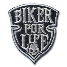 Biker For Life Patch Iron on Harley Biker Motorcycle Rider Chopper Vest Aufnäher