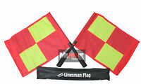 Deluxe Premier Linesman Flags Set Football Rugby Hockey Training Referee Flags