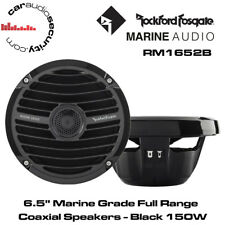 "Rockford Fosgate RM1652B - 6.5"" Marine Grade Full Range Coaxial Speakers - Black"