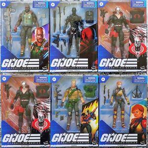 G.I. Joe Classified Series 6-Inch Action Figures SNAKE EYES DESTRO SCARLETT DUKE