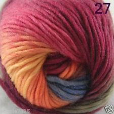 Sale 1Skein x 50gr NEW Hand Knitting Yarn Chunky Colorful Wool Scarves Shawls 27