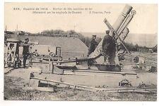 mortier de 350 position de tir  manoeuvré par les employés du creusot